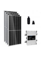 Kit Gerador Energia Solar 2,36 kWp - Microinversor Deye c/ Wifi Sun2000 - Painel Leapton - 2