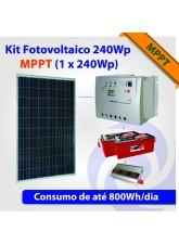 Kit Solar Fotovoltaico 250Wp MPPT (1 x 240Wp)