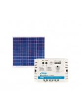 Kit Energia Solar Fotovoltaica 60Wp - até 195Wh/dia