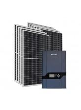 Kit Energia Solar Híbrido Kstar 4000Wp - até 1,333Wh/dia