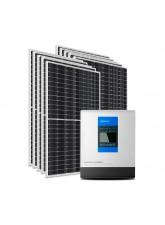 Kit Energia Solar Híbrido Epever 4000Wp - até  13406 Wh/dia