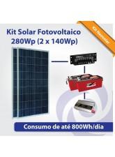 Kit Solar Fotovoltaico 280Wp (2x 140Wp)