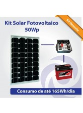 Kit Solar Fotovoltaico 55Wp - Iluminação Básica