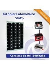 Kit Solar Fotovoltaico 55Wp - Iluminação Básica + Pequeno Consumo