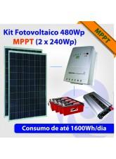 Kit Energia Solar Fotovoltaico 510Wp MPPT (2 x 255Wp)