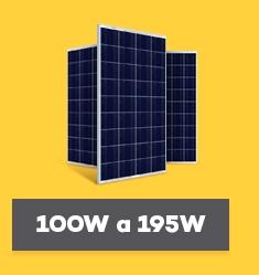 Painel Solar Fotovoltaico de 100Wp até 195Wp