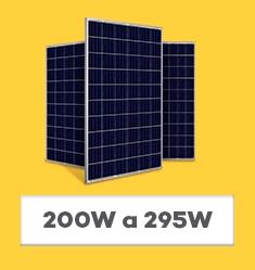 Placa Solar Fotovoltaica - 200Wp até 295Wp