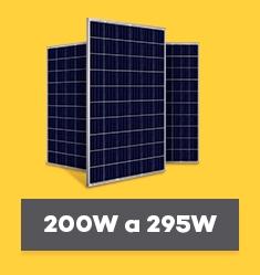 Painel Solar Fotovoltaico de 200Wp até 295Wp