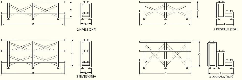Esquema de suporte para bateria solar