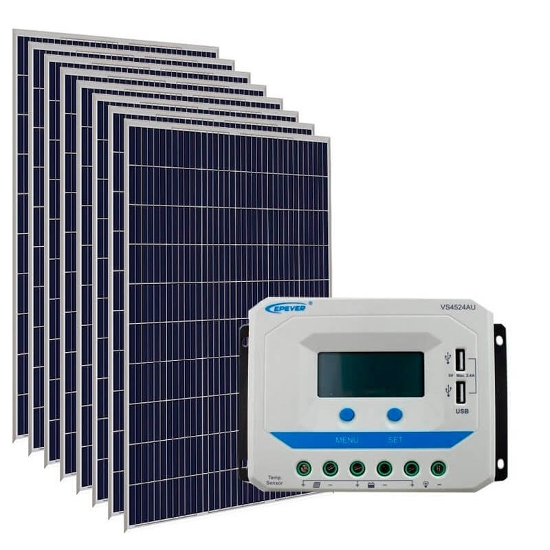 Kit de Energia Solar Off Grid de 1500Wp