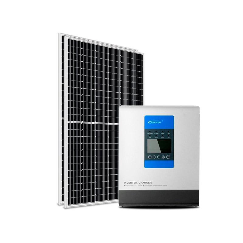 Kit Energia Solar Off-Grid Híbrido 3200Wp 48Vcc 220Vca