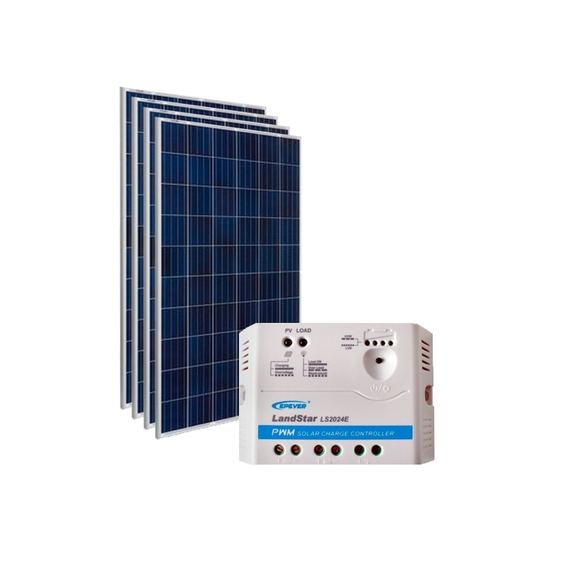 Kit de Energia Solar Off Grid de 600Wp