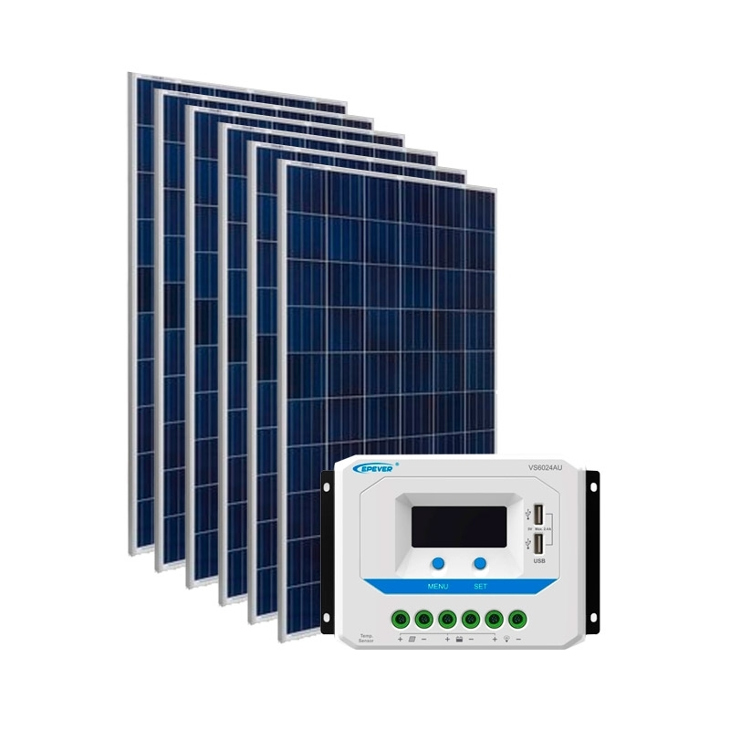 Kit de Energia Solar Off Grid de 930Wp