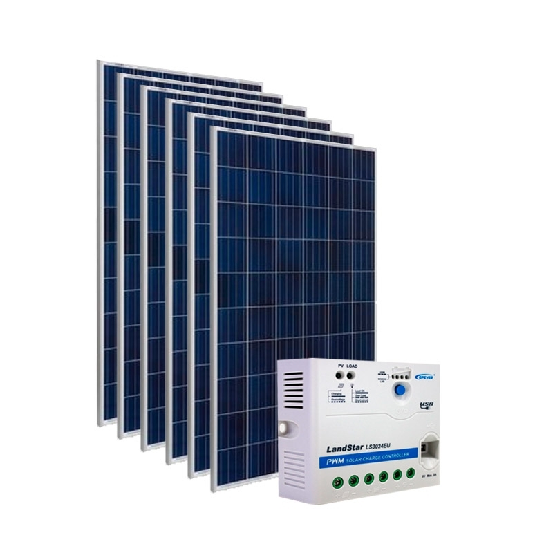 Kit de Energia Solar Off Grid de 900Wp