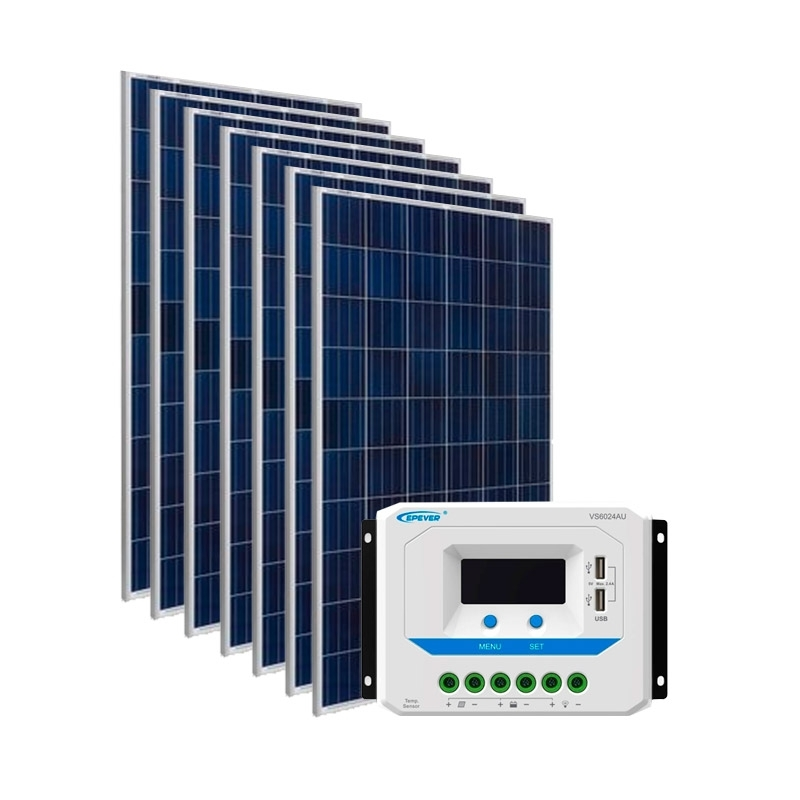 Kit Energia Solar Fotovoltaica 1050Wp - até 3410Wh/dia