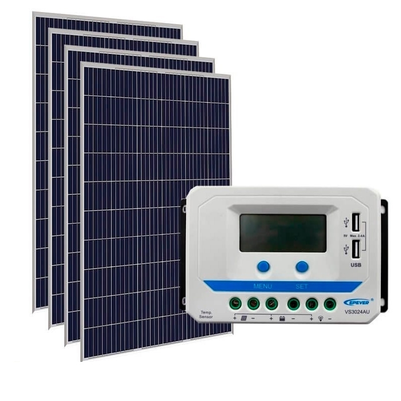Kit de Energia Solar Off Grid de 1340Wp