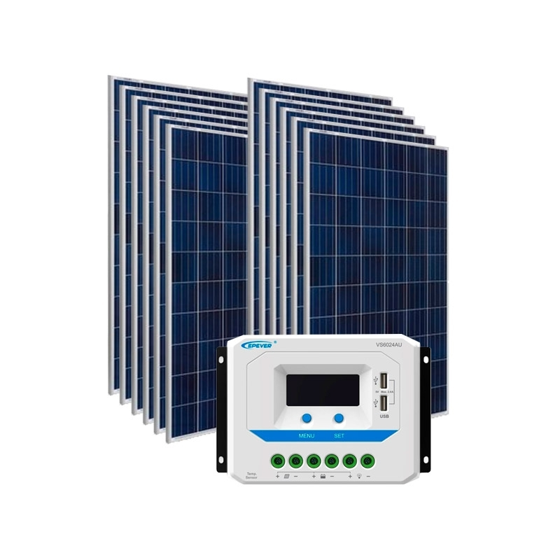 Kit de Energia Solar Off Grid de 1800Wp