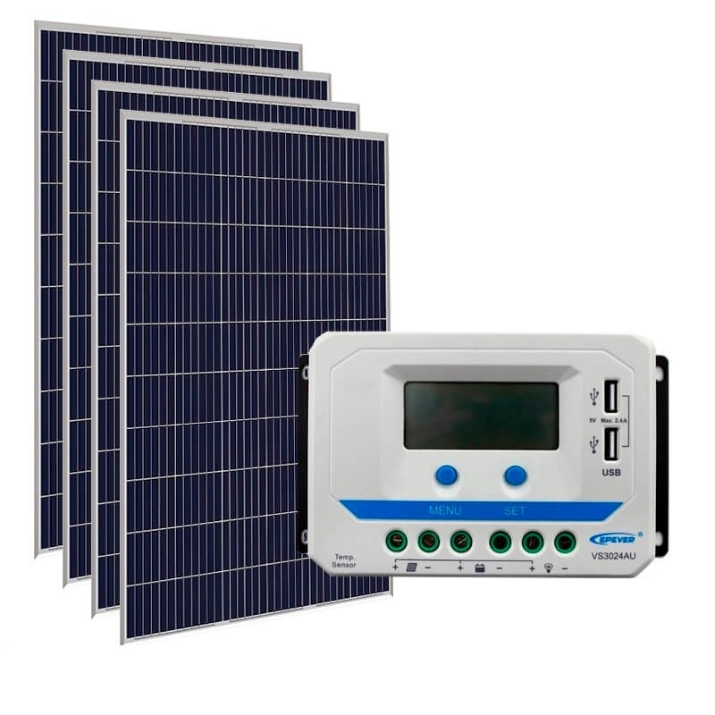 Kit de Energia Solar Off Grid de 600Wp
