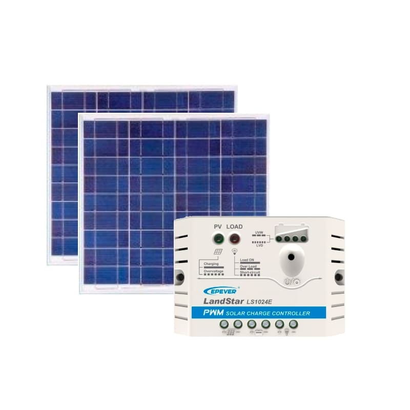 Kit de Energia Solar Off Grid de 120Wp