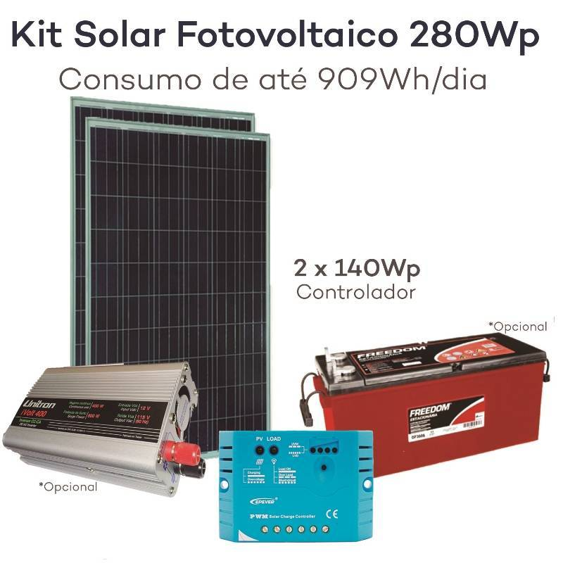Kit neosolar 280wp 2x 140wp energia fotovoltaica for Kit solar fotovoltaico