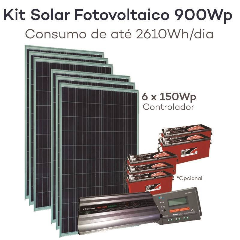Kit energia solar fotovoltaico 900wp neosolar for Kit solar fotovoltaico