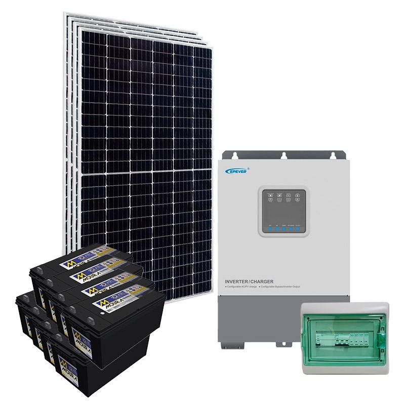 Kit Nobreak Solar Off Grid 1,6kWp c/ Bateria Solar