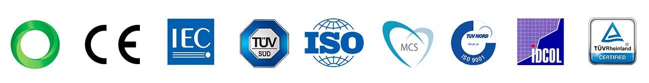 Certificados de Qualidade - Painel Solar Fotovoltaico OSDA