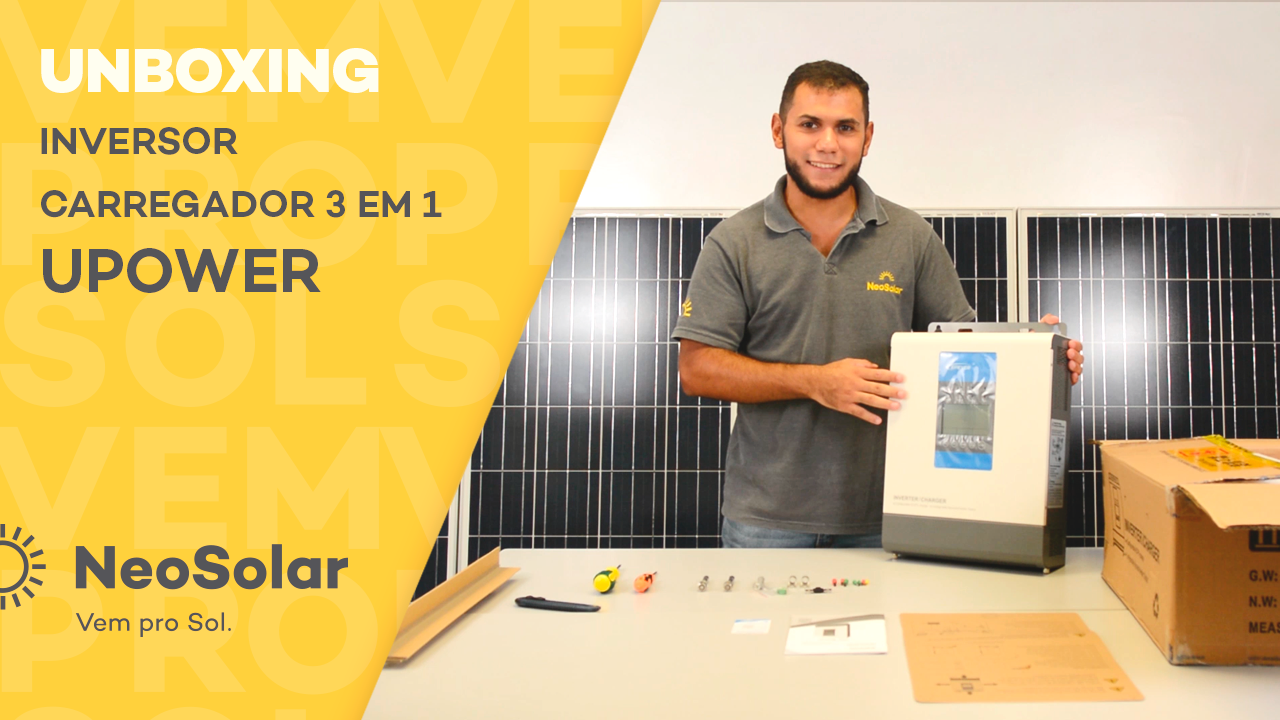 Inversor solar Upower unboxing