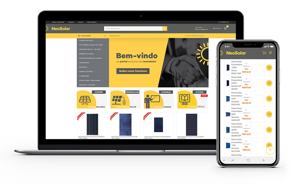 Portal B2B para Integradores e Revendedores NeoSolar