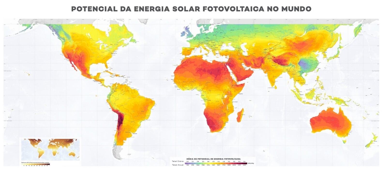 Potencial Energia Solar Fotovoltaica no Mundo