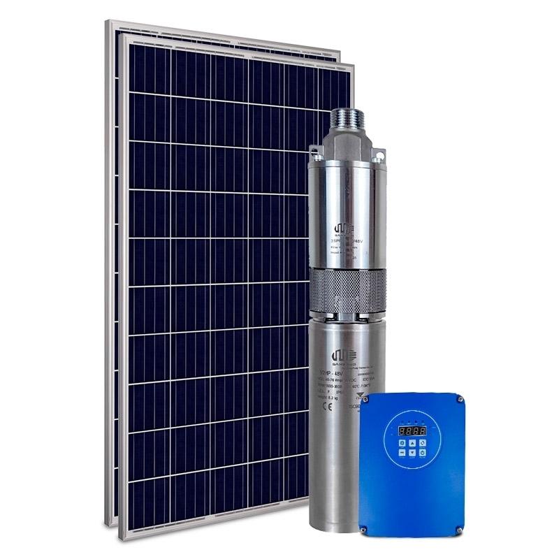 """Kit Bomba Solar PRO Samking 0,5HP 3"""" 3SPF1.5-80 - até 80m ou 9.000 L/dia"""