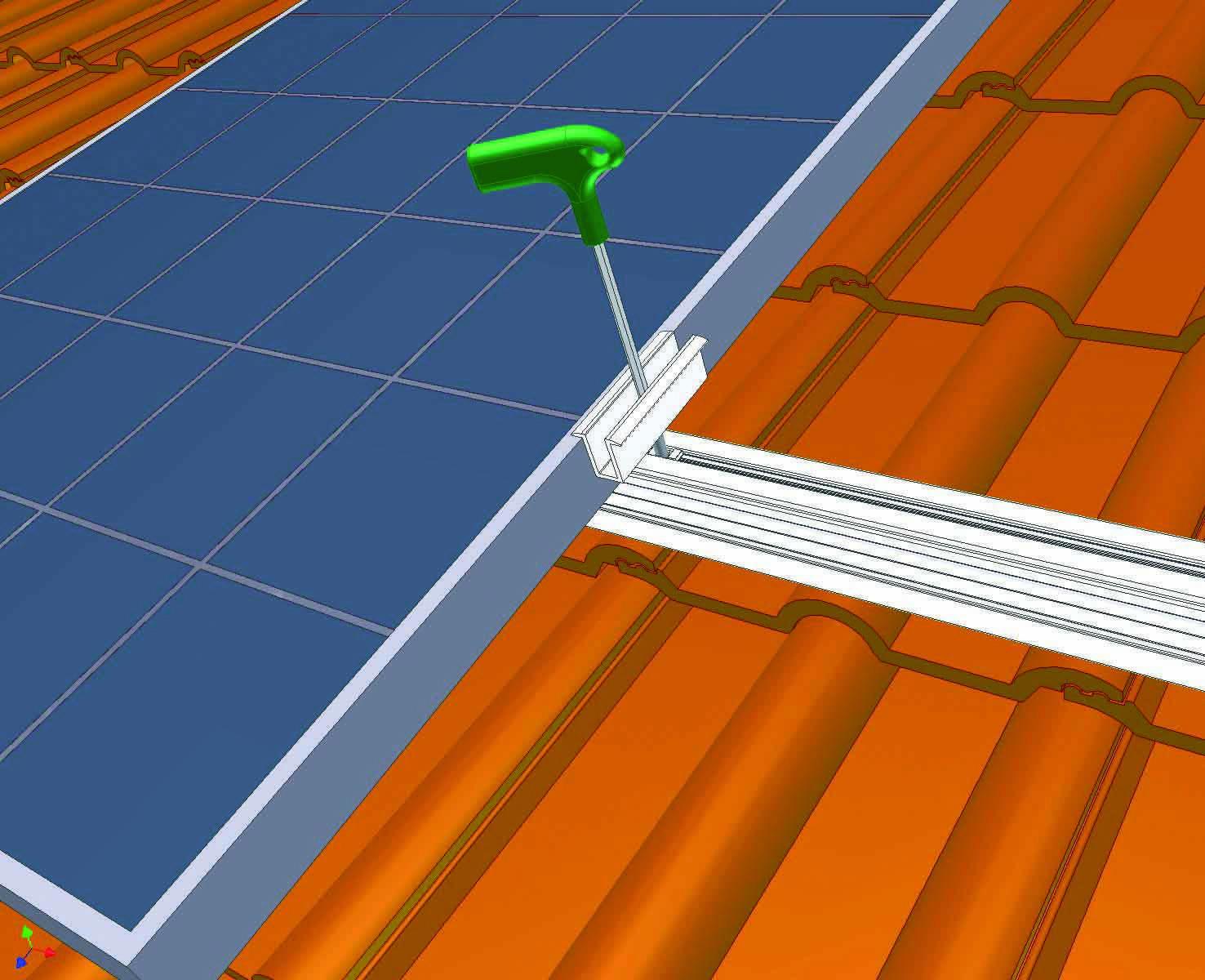 Energia Solar - Suporte para painéis fotovoltaicos