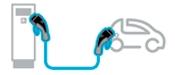 Esquema de ligação: Carregador VE - Carro Elétrico